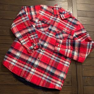 NWOT Youth Boy's Cat & Jack Red Flannel!